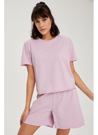 DeFacto Pijama Üst Mor